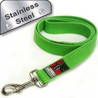 Black Dog Training Lead 1.2m Stainless Steel